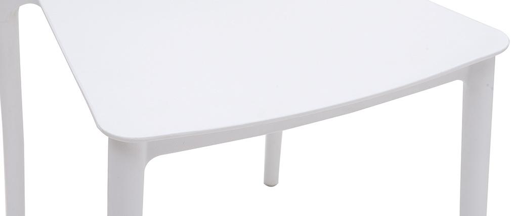 Chaises design empilables blanches (lot de 2) ANNA