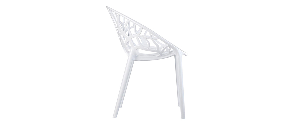 Chaises design empilables blanches (lot de 4) ARBOL
