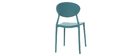 Chaises design empilables bleu canard (lot de 2) ANNA