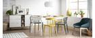 Chaises design empilables grises intérieur / extérieur (lot de 2) PATIO