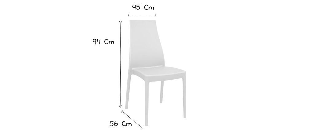 Chaises design empilables intérieur / extérieur noires (lot de 4) CONDOR