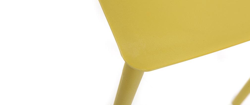 Chaises design empilables jaunes (lot de 2) ANNA