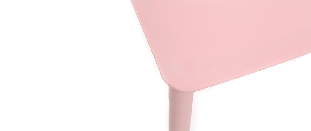 Chaises design empilables roses (lot de 2) ANNA