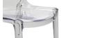 Chaises design empilables transparentes intérieur / extérieur  (lot de 2) YZEL