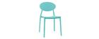 Chaises design empilables turquoise (lot de 2) ANNA
