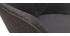 Chaises design en tissu gris foncé et métal (lot de 2) TAYA