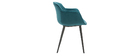 Chaises design en velours bleu (lot de 2) SAKE