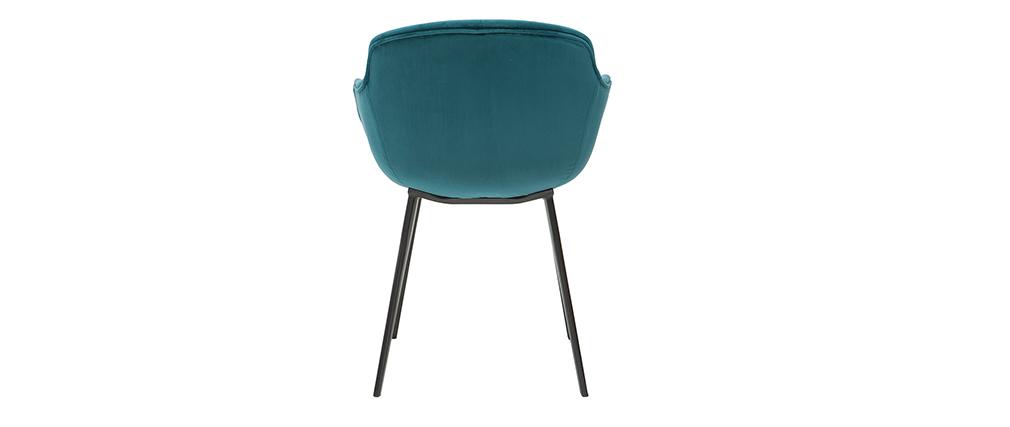 Chaises design en velours bleu (lot de 2) SAKE