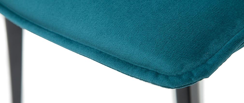 Chaises design en velours bleu pétrole (lot de 2) PARKER