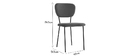 Chaises design en velours gris et métal noir (lot de 2) LEPIDUS