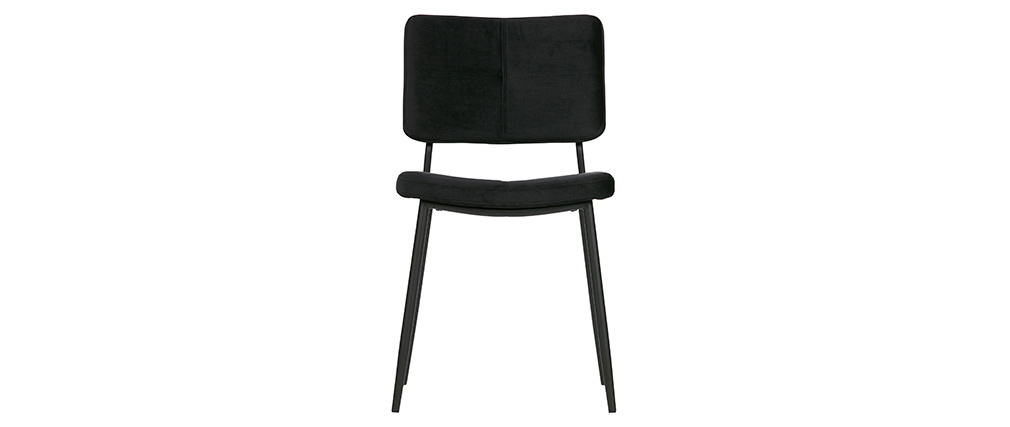 Chaises design en velours noir (lot de 2) GAB
