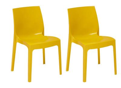 Chaises design jaunes lot de 2 MAELI