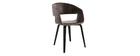 Chaises design marron pieds bois (lot de 2) SLAM