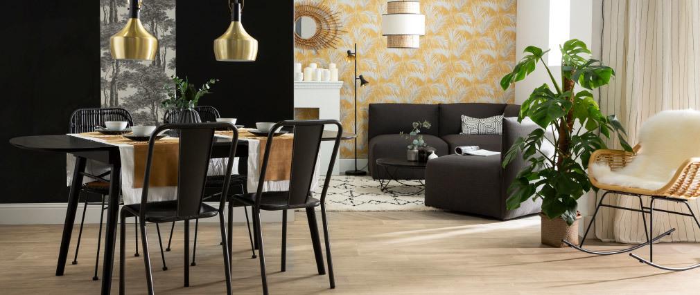 Chaises design métal inox (lot de 2) EVAN