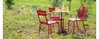 Chaises design métal rouge (lot de 2) EVAN