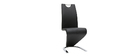Chaises design noir (lot de 2) ANGY