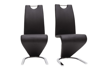 Chaises design noir (lot de 2) ANGY