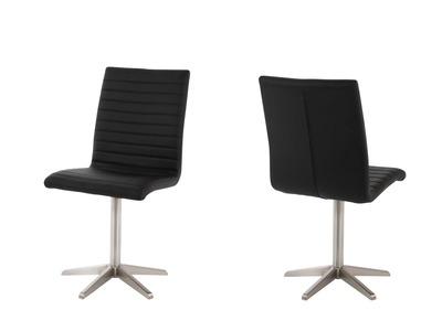 Chaises design noire lot de 2 STAR