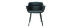 Chaises design noires (lot de 2) NERO