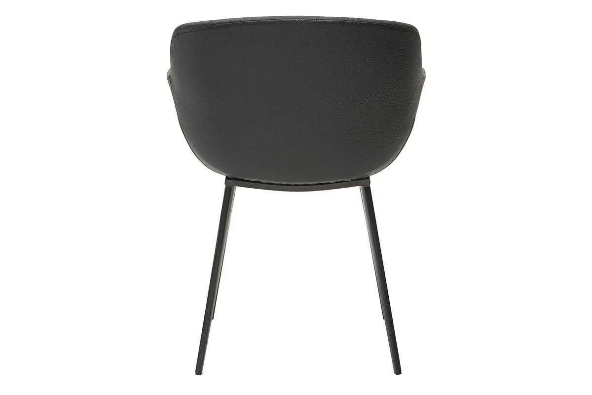 Chaises design noires (lot de 2) NERO Miliboo