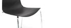 Chaises design noires empilables avec motif graphique et pieds métal (lot de 2) GUSTO