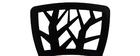 Chaises design noires empilables intérieur / extérieur (lot de 2) KATIA