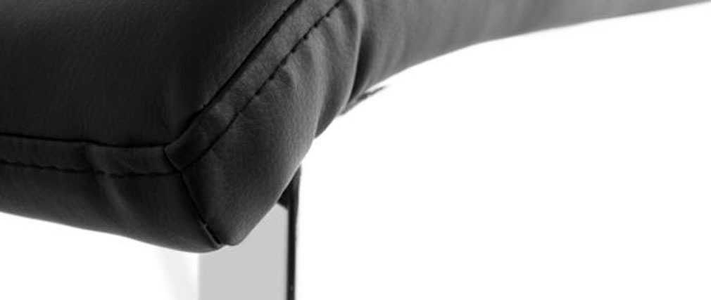 Chaises design noires - lot de 2 BELLA