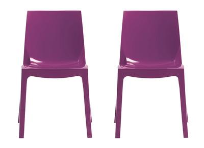 Chaises design prunes lot de 2 MAELI