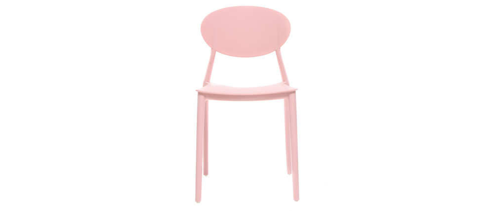 Chaises design rose polypropylène empilables (lot de 2) ANNA