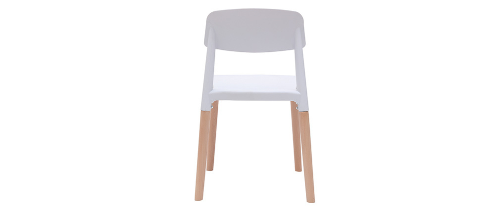Chaises design scandinave blanches (lot de 2) GILDA