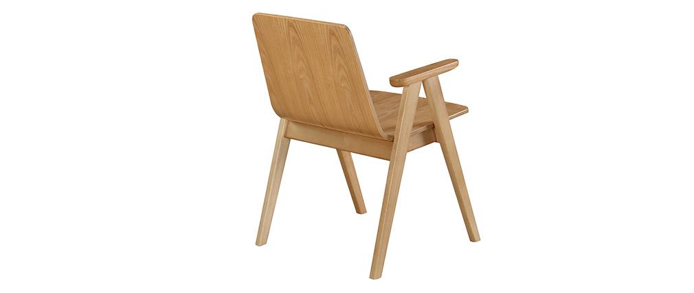 Chaises design scandinave chêne (lot de 2) DANA