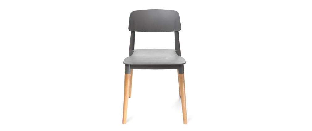 Chaises design scandinave grises (lot de 2) GILDA