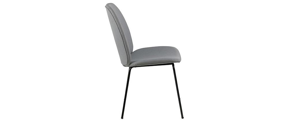 Chaises design tissu gris clair (lot de 2) PALOMA