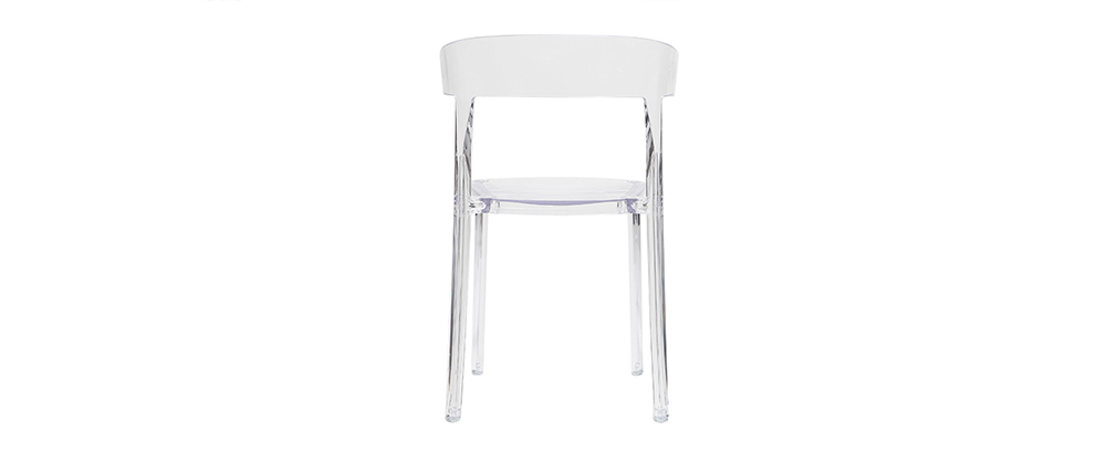 Chaises design transparentes empilables (lot de 2) PARADISE