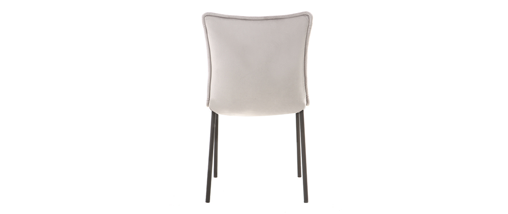Chaises design velours gris (lot de 2) SOLACE