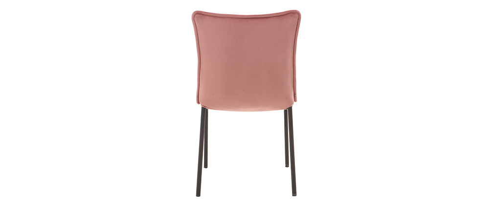 Chaises design velours rose (lot de 2) SOLACE