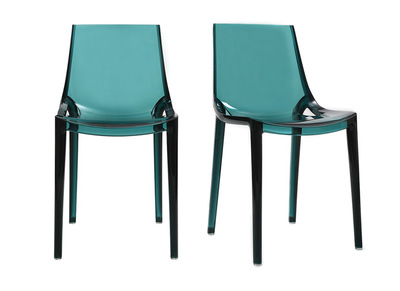 Chaises design vert d'eau lot de 2 YZEL