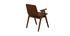 Chaises design vintage noyer (lot de 2) DANA