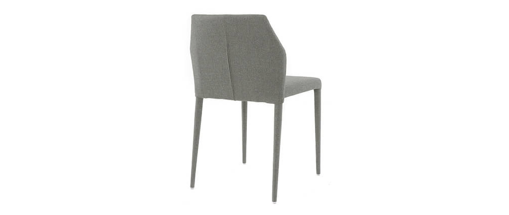 Chaises empilables design gris clair (lot de 2) KARLA