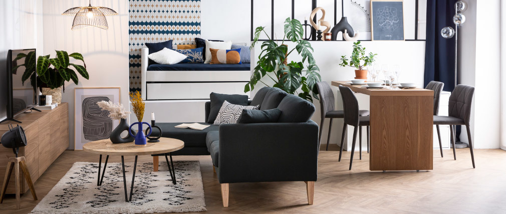 Chaises empilables design grises (lot de 2) KARLA