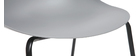 Chaises empilables design grises pieds métal (lot de 2) CONCHA