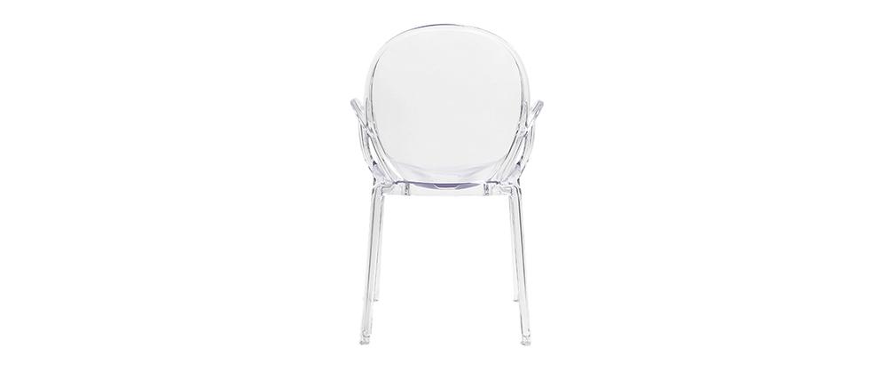 Chaises empilables design transparentes (lot de 2) CRISTAL