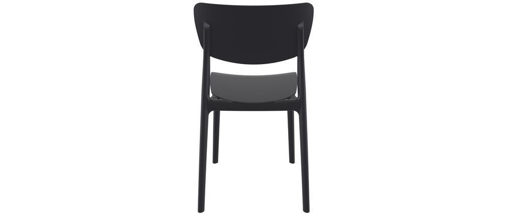 Chaises empilables noires intérieur / extérieur (lot de 4) COBB