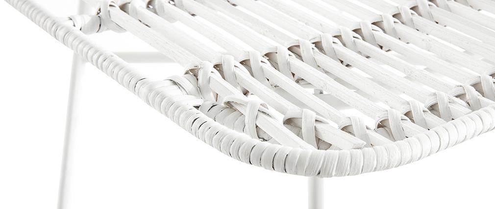 Chaises en rotin blanc (lot de 2) MALACCA - Miliboo & Stéphane Plaza