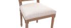 Chaises en tissu coloris naturel pieds bois clair (lot de 2) AMAURY