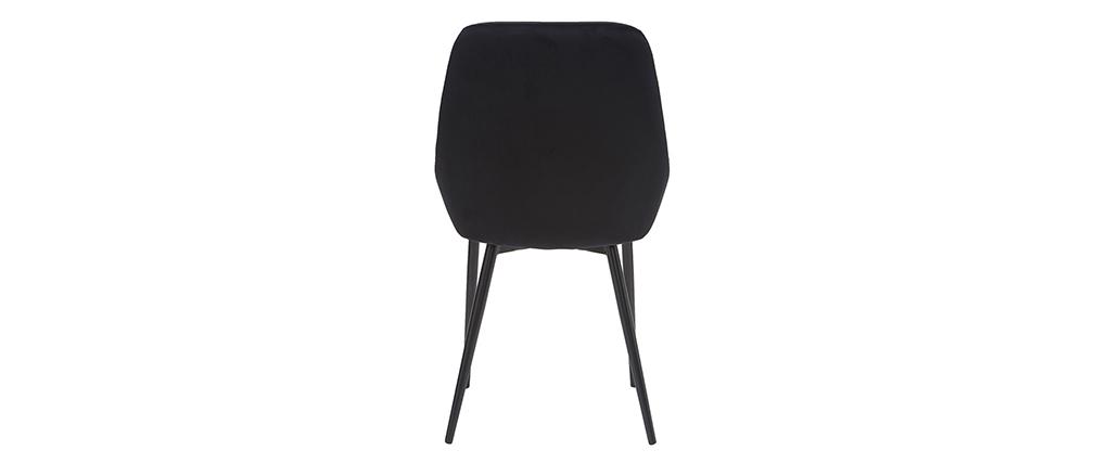 Chaises en velours noir (lot de 2) HOLO