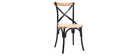 Chaises industrielles en métal noir et bois (lot de 2) JAKE