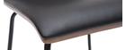 Chaises noir et bois foncé avec pieds métal (lot de 2) DELICACY