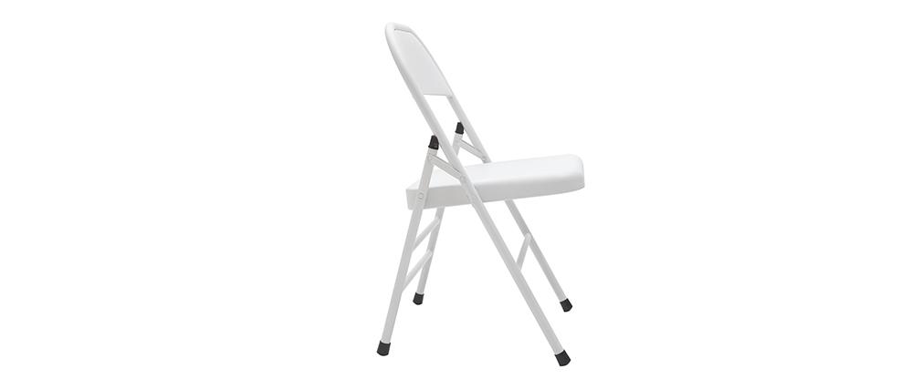 Chaises pliantes blanches (lot de 2) ALI