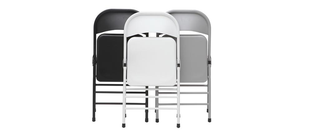 Chaises pliantes noires (lot de 2) ALI